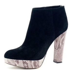 Michael Kors Lesly Black Suede Ankle Bootie Boots